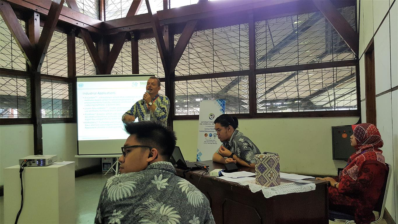 Mr. René Van Berkel delivered an invited presentation on Engineering for a Sustainable Future, during the International Conference on Chemical Engineering. Bandung, 28 October 2016